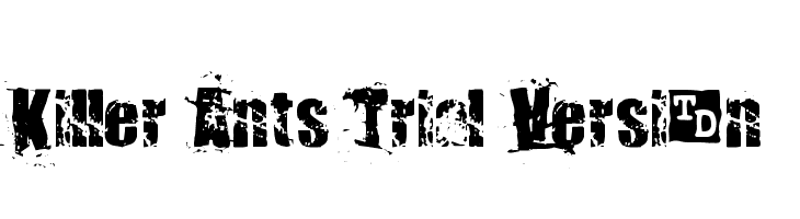 Killer Ants Trial Version  Free Fonts Download
