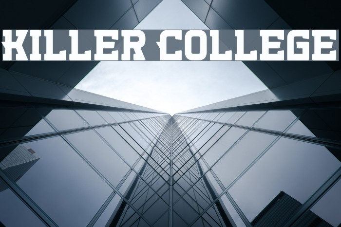 Killer College Шрифта examples