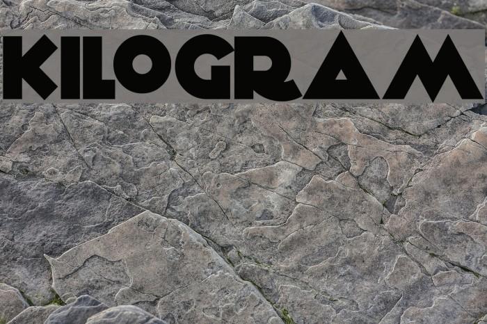 KiloGram Font examples