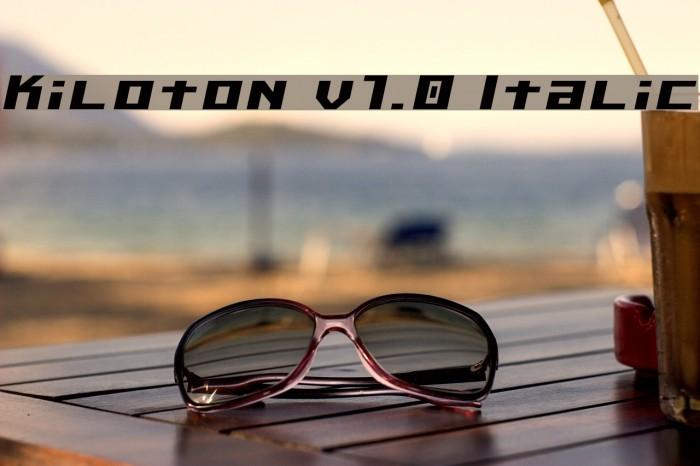 Kiloton v1.0 Italic Шрифта examples