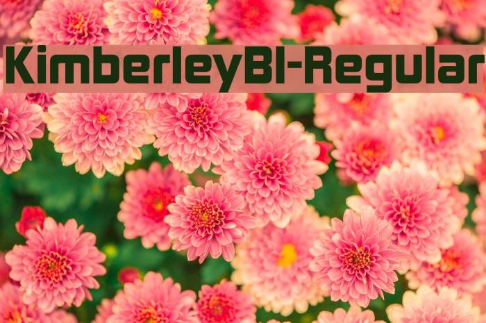 KimberleyBl-Regular Font examples
