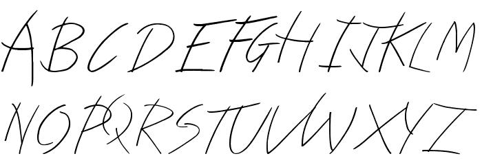Kindergarten Font UPPERCASE