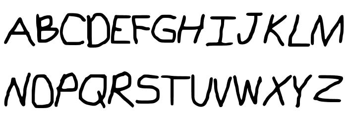 Kindergarten R Schriftart Groß