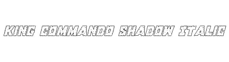 King Commando Shadow Italic  Скачать бесплатные шрифты