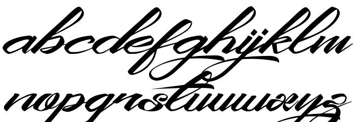 KingCityFreeFont Schriftart Kleinbuchstaben
