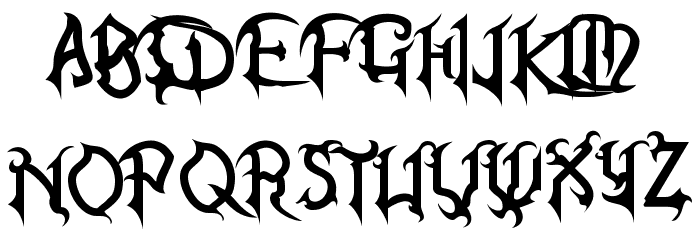 Kingdom Hearts Font UPPERCASE