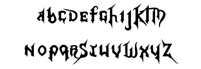 Kingdom Hearts Font LOWERCASE