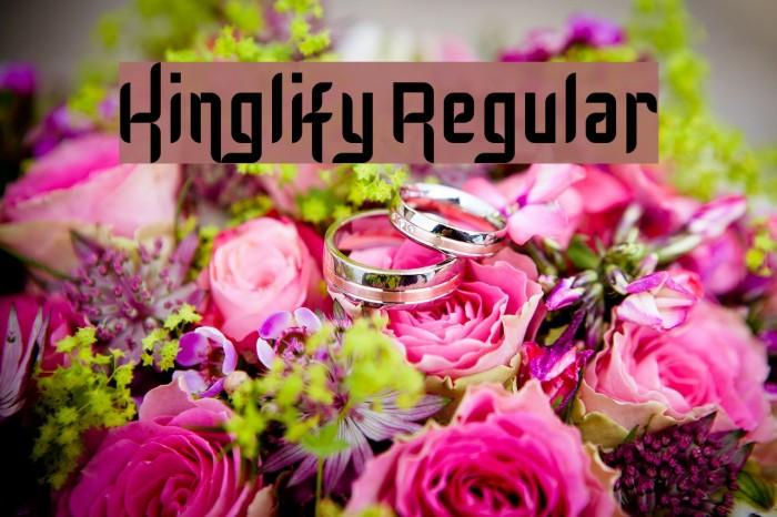 Kinglify Regular Font examples