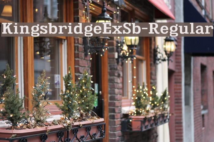 KingsbridgeExSb-Regular Font examples