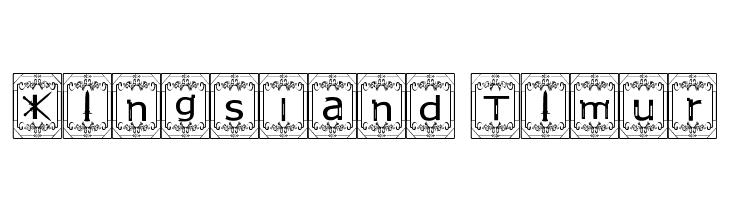 Kingsland Timur  font caratteri gratis