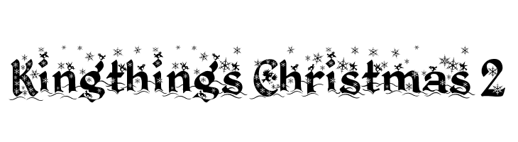 Kingthings Christmas 2  Free Fonts Download