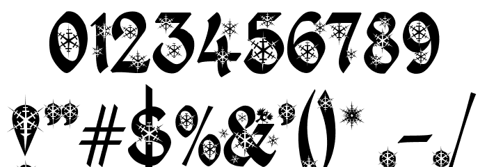 Kingthings Christmas 2 Font OTHER CHARS