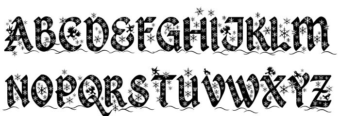 Kingthings Christmas 2 Font UPPERCASE