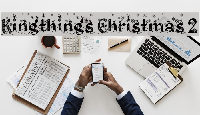 Kingthings Christmas 2 Font examples