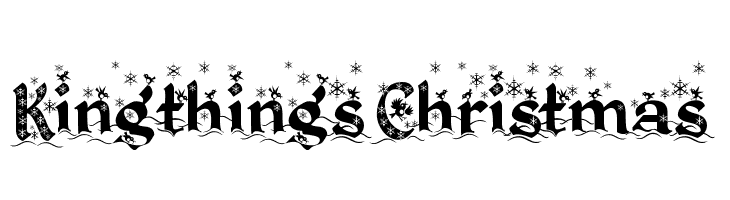 Kingthings Christmas  Free Fonts Download