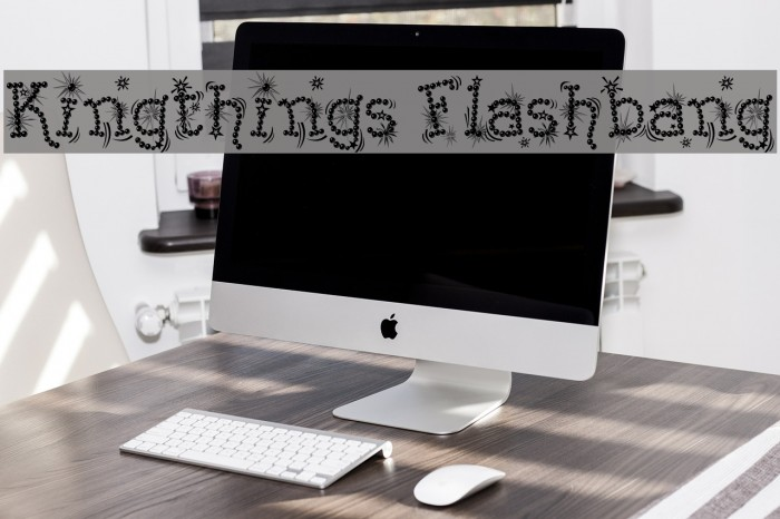 Kingthings Flashbang फ़ॉन्ट examples