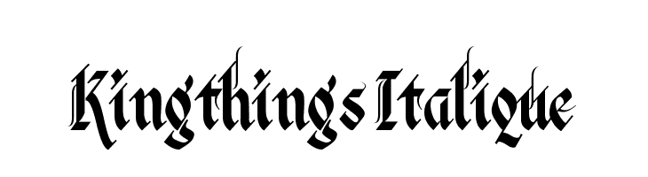 Kingthings Italique  Fuentes Gratis Descargar
