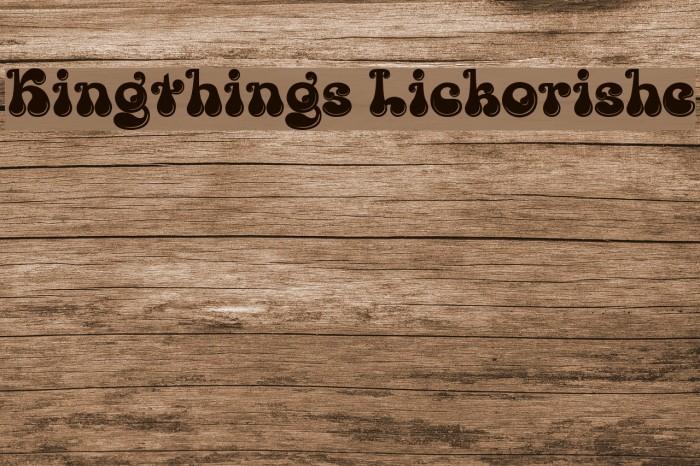 Kingthings Lickorishe Font examples