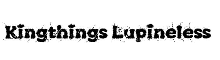 Kingthings Lupineless  font caratteri gratis