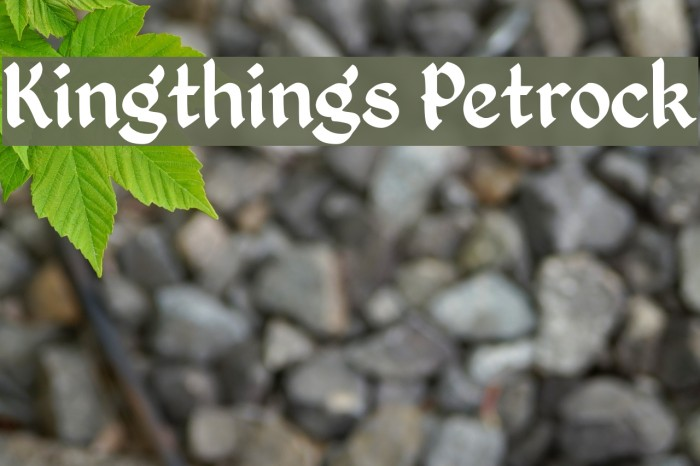 Kingthings Petrock Font examples