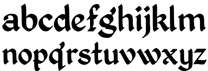 Kingthings Petrock Font LOWERCASE