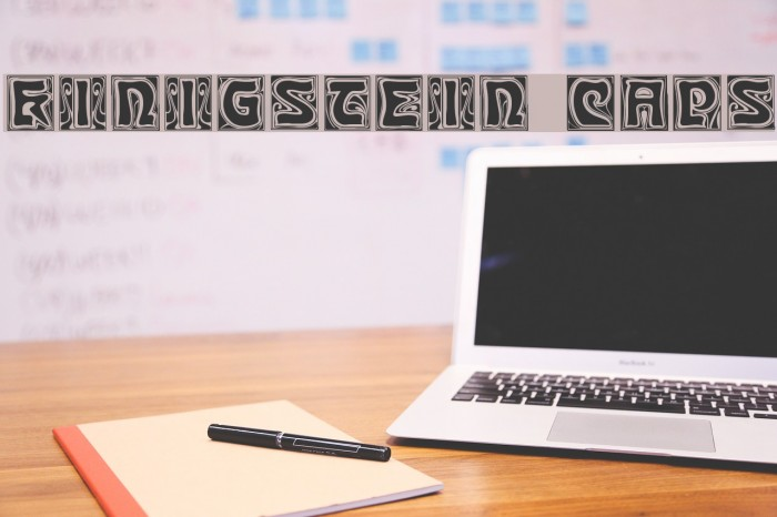 Kinigstein Caps Font examples