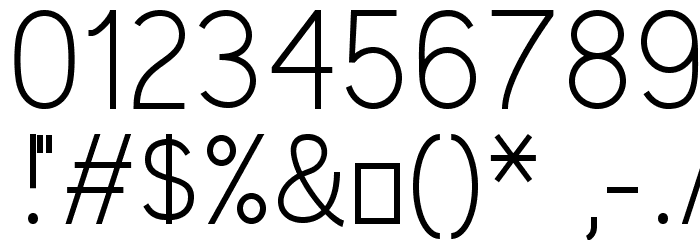 Kirvy Light Font OTHER CHARS