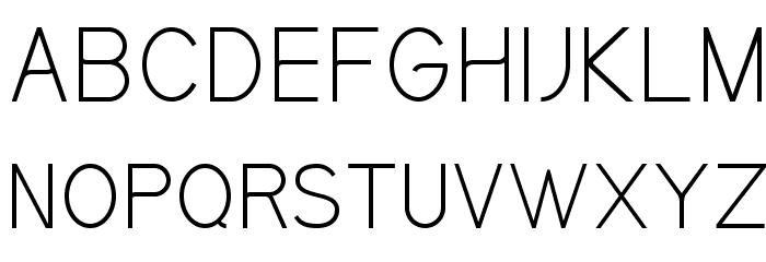 Kirvy Light Font UPPERCASE