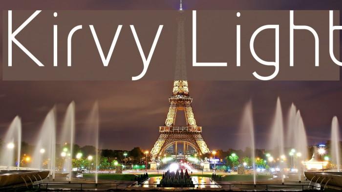 Kirvy Light Font examples