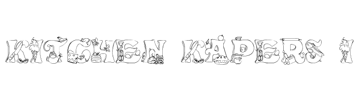 Kitchen Kapers I Font