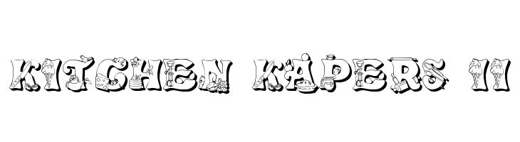 Kitchen Kapers Ii Font