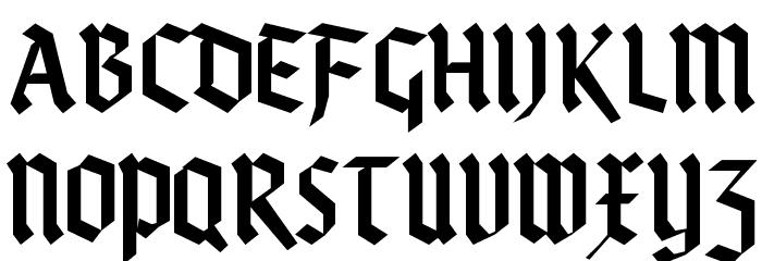 KleinsBrokenGotik Fonte MAIÚSCULAS