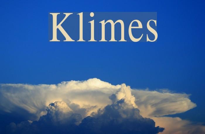 Klimes फ़ॉन्ट examples