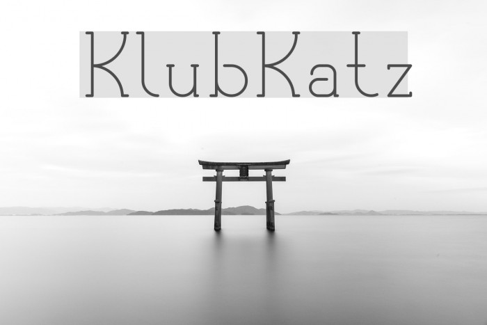 KlubKatz Font examples