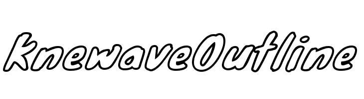 KnewaveOutline  Free Fonts Download