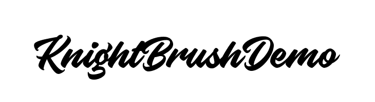 KnightBrushDemo  フリーフォントのダウンロード