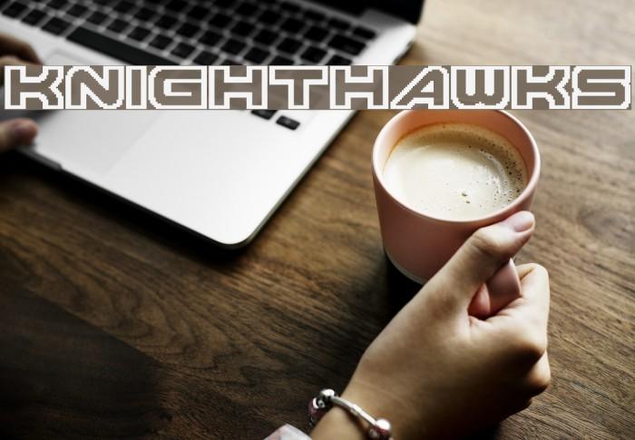 Knighthawks Шрифта examples
