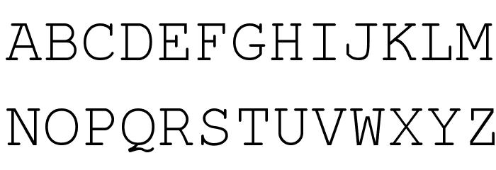 KOI8 Kurier Fixed Font UPPERCASE