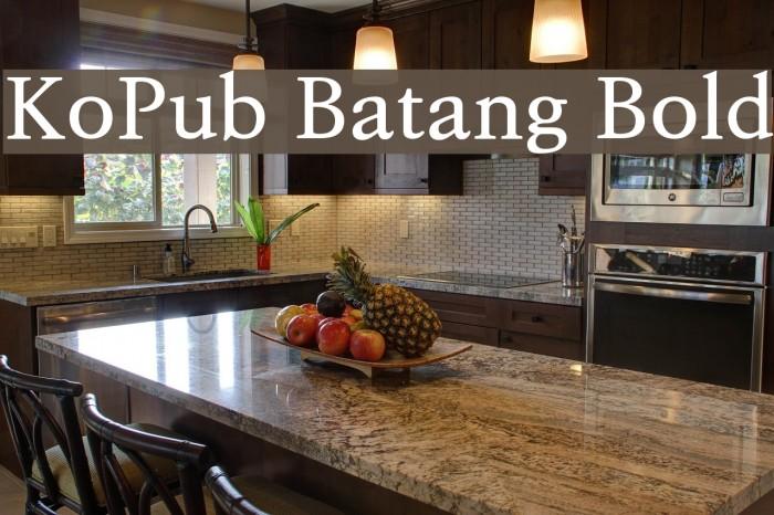 KoPub Batang Bold Font examples