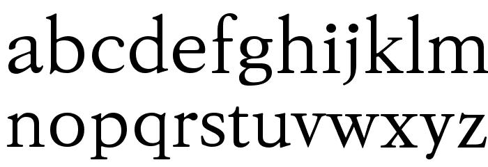 KoPubBatang Regular Font LOWERCASE