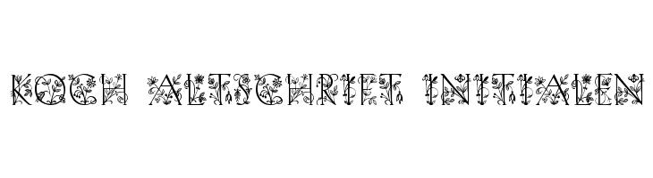 Koch Altschrift Initialen  Descarca Fonturi Gratis