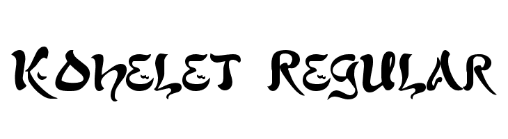 Kohelet Regular  Скачать бесплатные шрифты