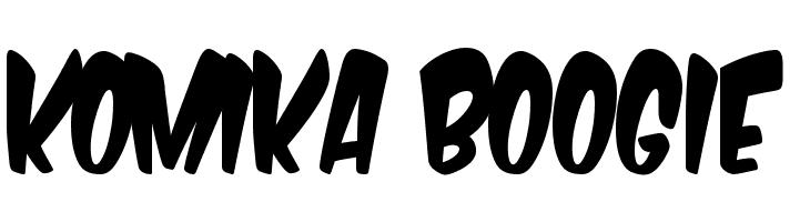 Komika Boogie  Скачать бесплатные шрифты