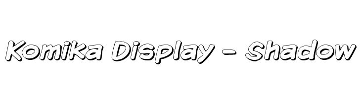 Komika Display - Shadow  baixar fontes gratis