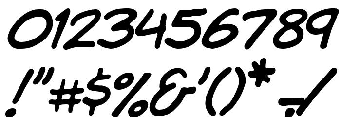 Komika Hand Italic Font OTHER CHARS