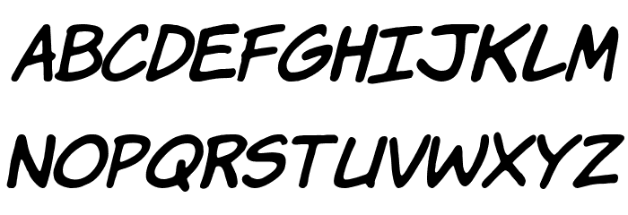 Komika Hand Italic Font LOWERCASE