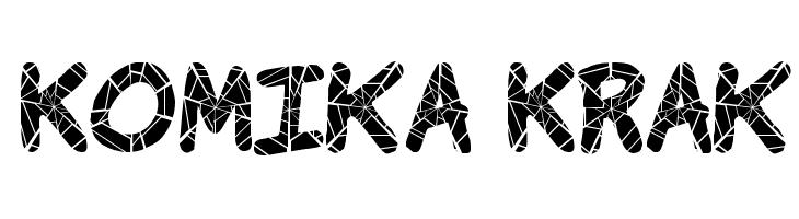 Komika Krak  नि: शुल्क फ़ॉन्ट्स डाउनलोड