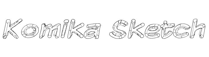 Komika Sketch  Скачать бесплатные шрифты