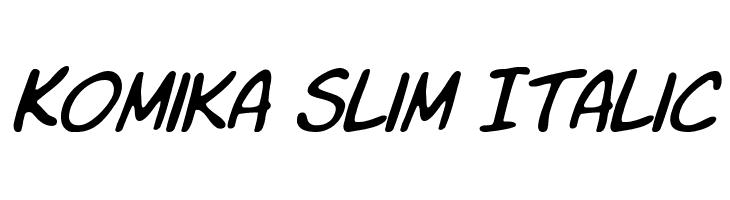Komika Slim Italic  Скачать бесплатные шрифты
