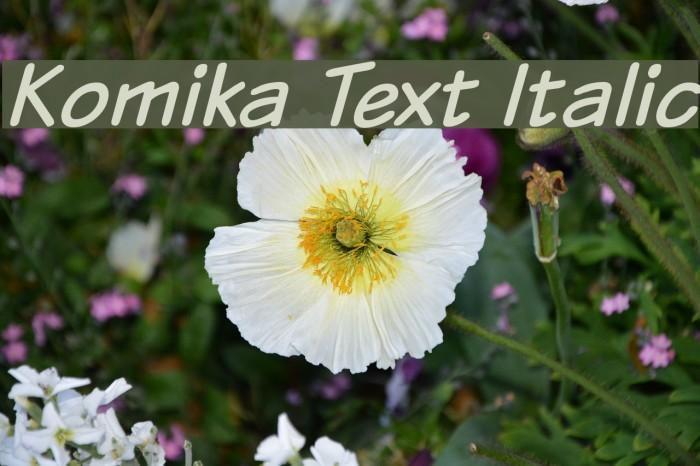 Komika Text Italic Polices examples